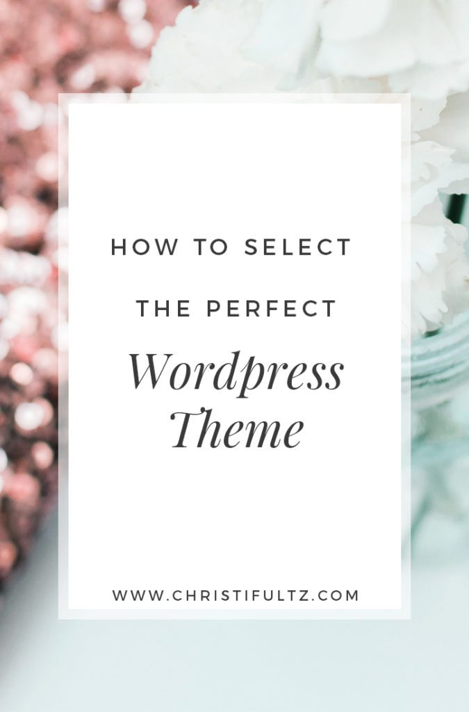 how to select the perfect WordPress theme