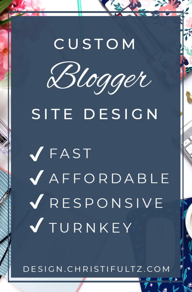 custom Blogger design, logo, and branding
