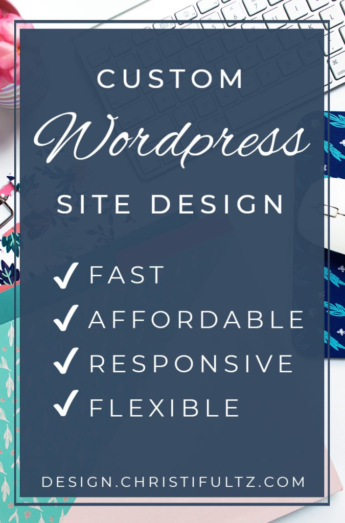 custom wordpress site design, logo, and branding
