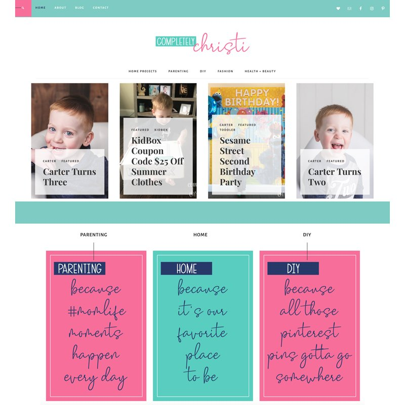 family mom blog design