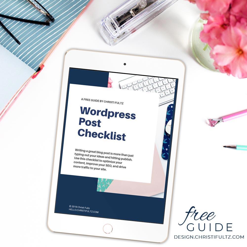 free wordpress post checklist lead magnet