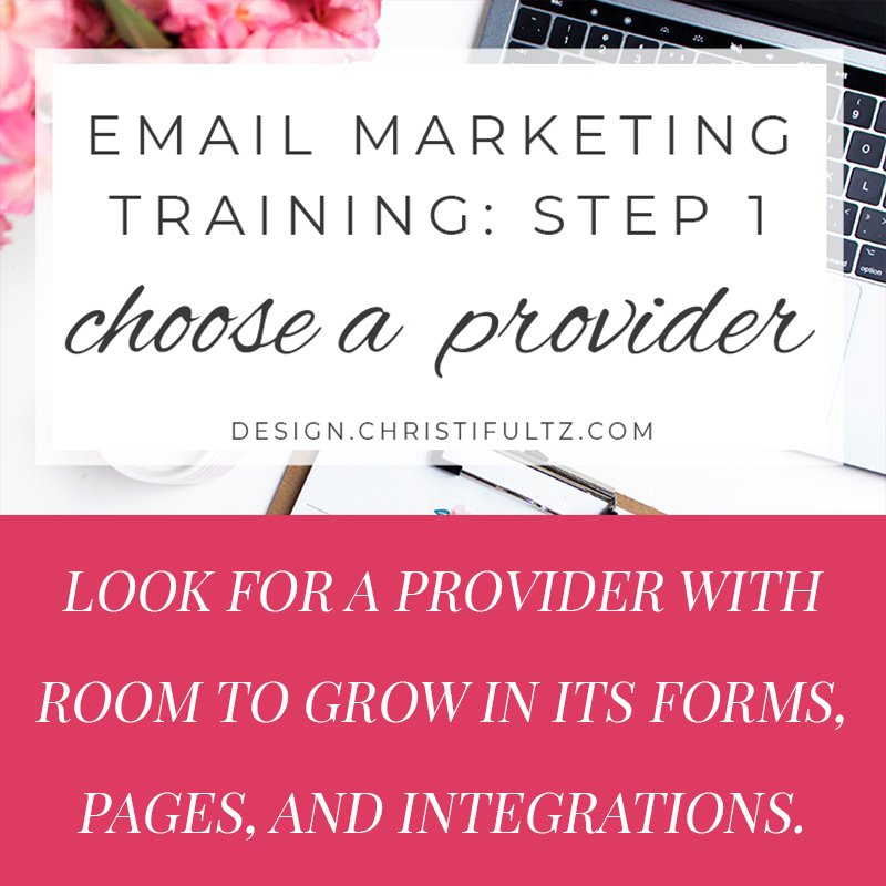 fee email marketing training: choose a provider