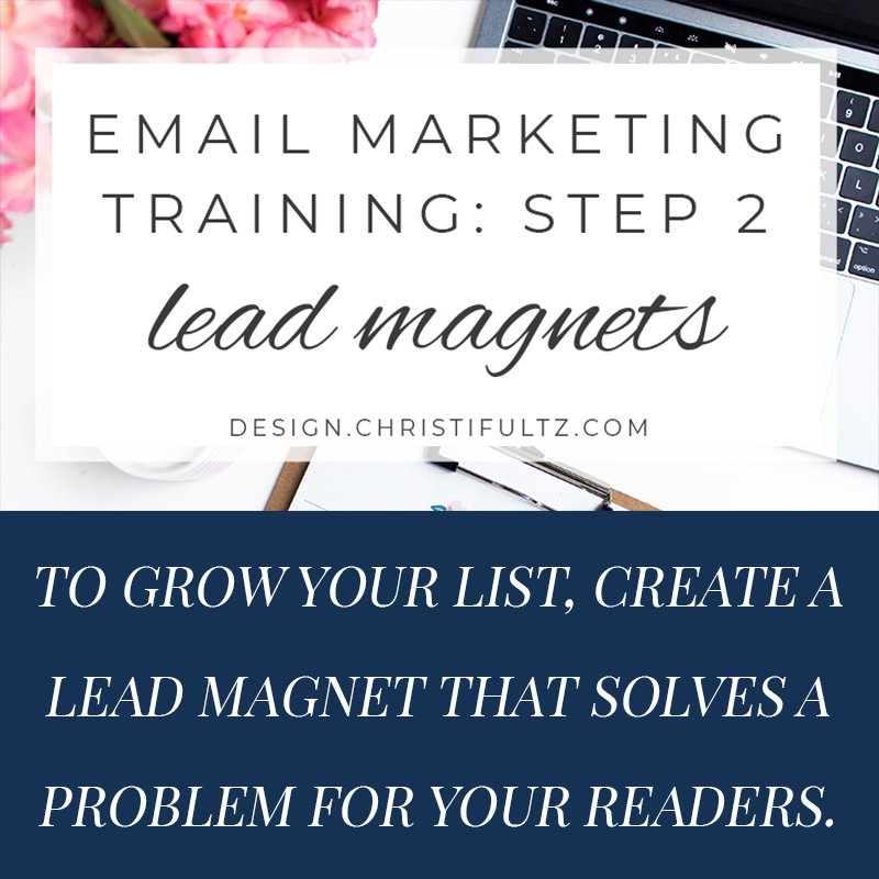 fee email marketing training: develop lead magnets