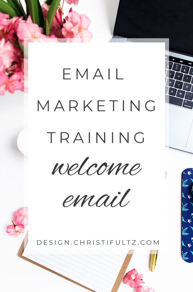 free email marketing training: welcome email