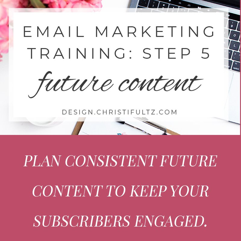 fee email marketing training: planning content