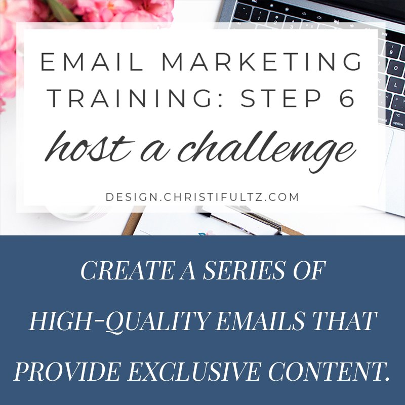 fee email marketing training: host a challenge