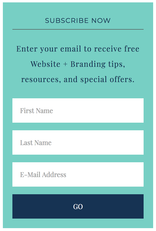 mailchimp sign up form example