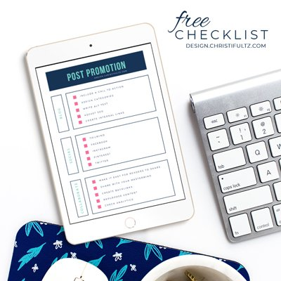 Free post promotion checklist: how to improve blog post reach