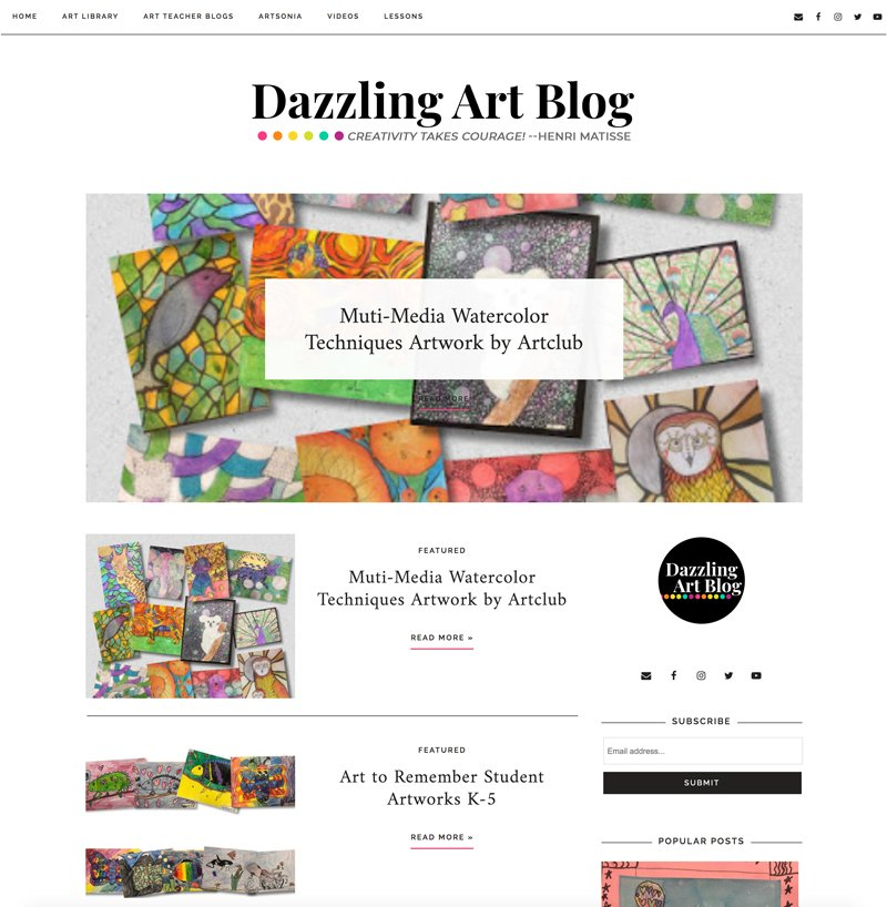 Responsive Blogger website design for teacher bloggers by Christi Fultz