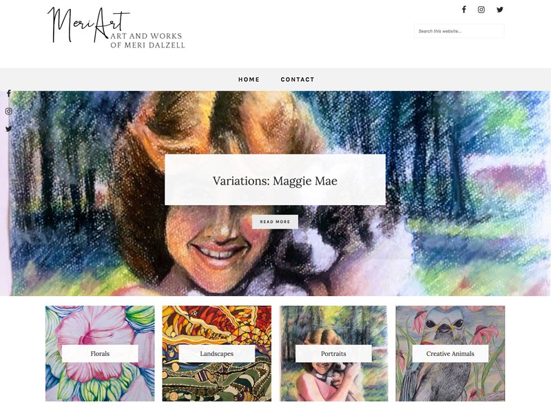 personal branding and Blogger responsive website design; artist showcase