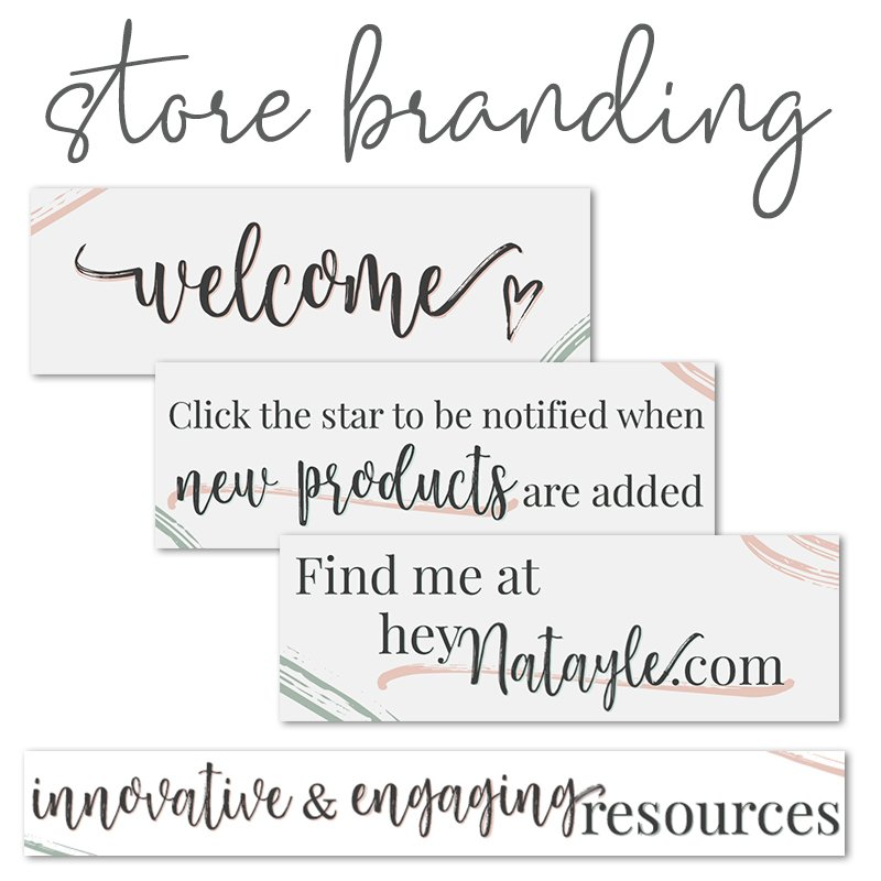 teachers pay teachers custom store branding banner and quote gif design by christi fultz