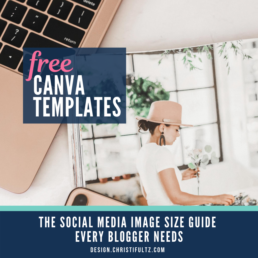 Learn how to create appropriately sized graphics to promote blog posts across with Canva templates and this free social media image size guide.