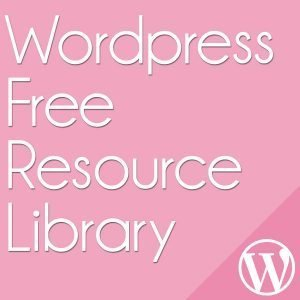 wordpress free resource library