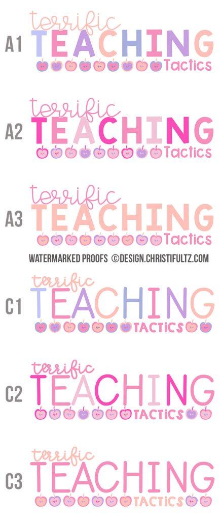 Custom WordPress teacher blog design, logo, and branding for teacher entrepreneurs and education bloggers via Design by Christi Fultz