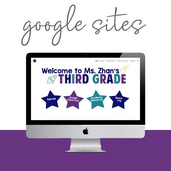 Are you a teacher in need of a Google Site? Use this simple template to install your site in just a few clicks, customized in your colors and style. Via Design by Christi Fultz