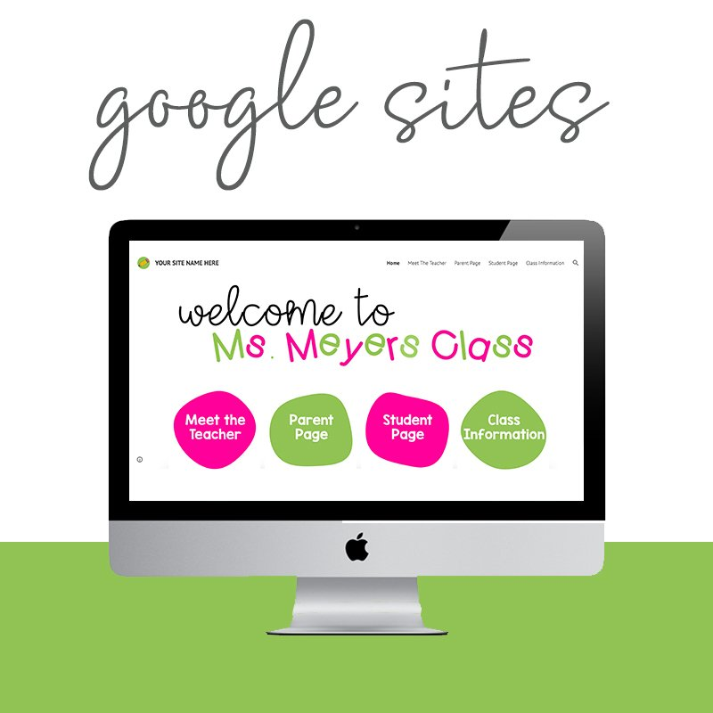 Custom, affordable teacher google site templates that get your class website up and running for digital learning and back to school quickly.
