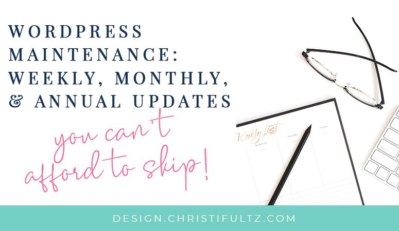 Just like routine maintenance on your car or home, WordPress runs best with regular updates and care. Do you have a strategy for WordPress maintenance? Here's a list of weekly, monthly, & annual updates you can't afford to skip.