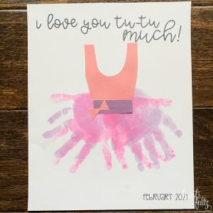 tutu toddler valentine handprint craft