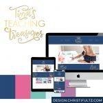 custom wordpress website blog design for teachers
