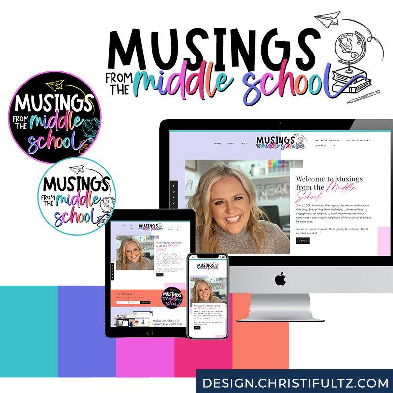 wordpress teacher website blog design christi fultz