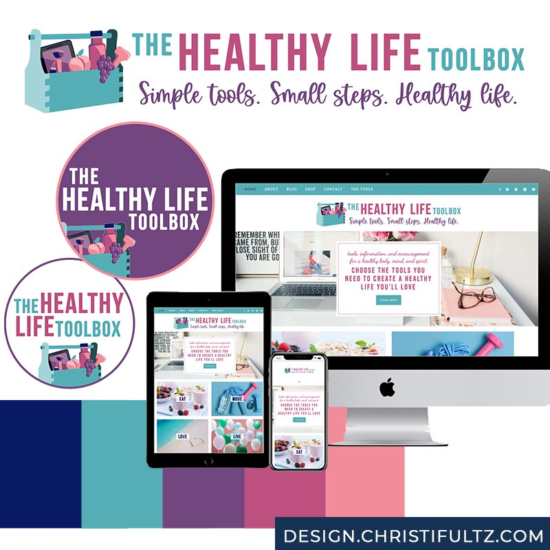 WordPress Website Design + Branding: Healthy Life Toolbox