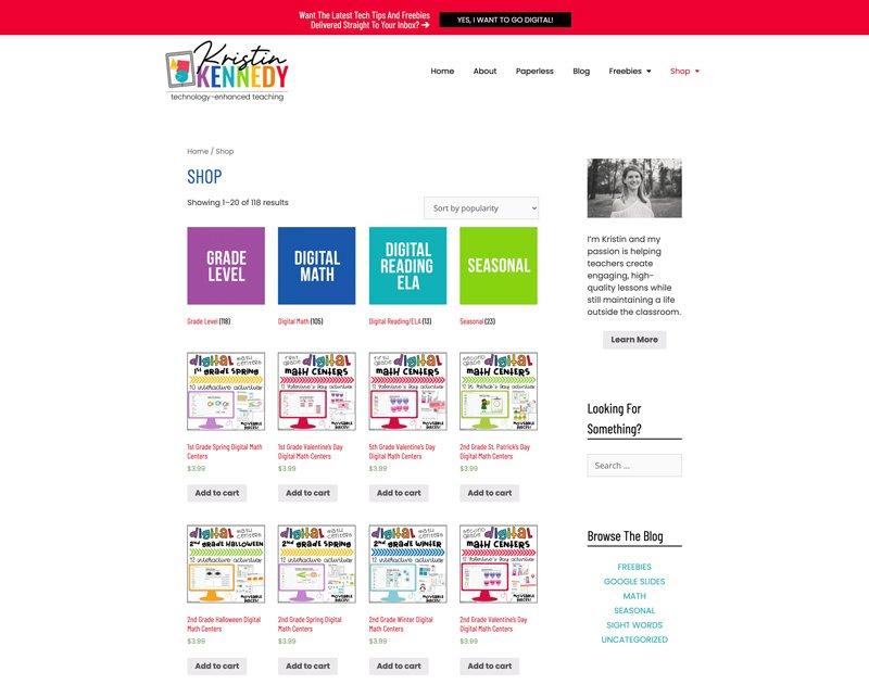 WordPress Store Install: Kristin Kennedy Teaching