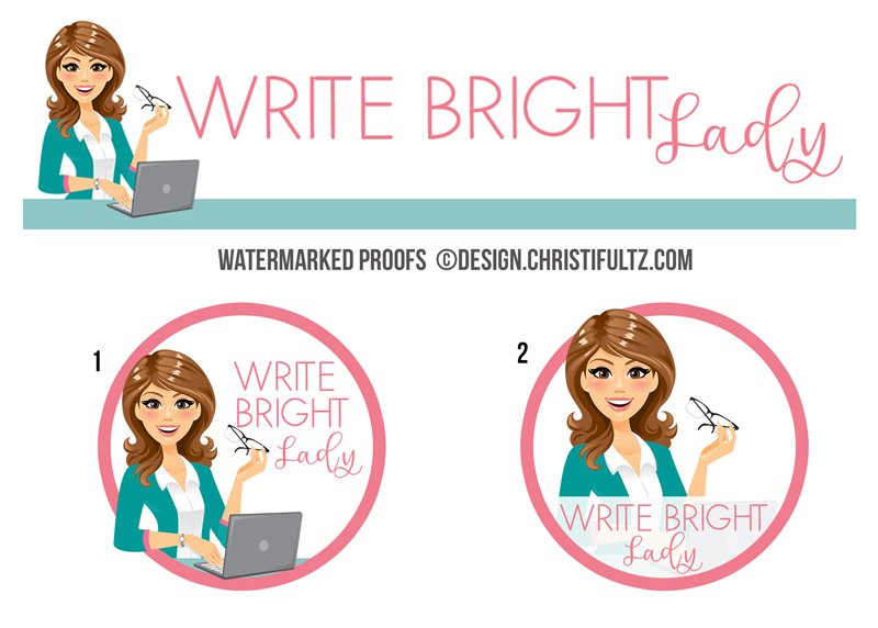 Custom teacher logo design and branding package by Christi Fultz