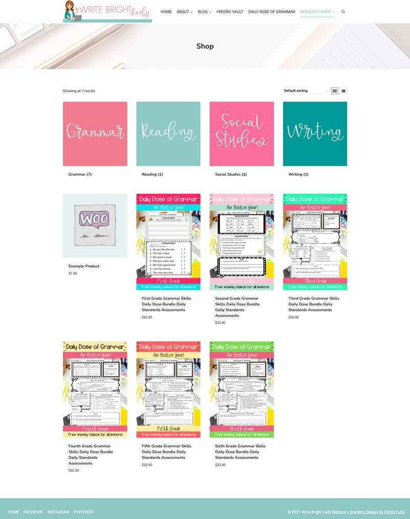 Custom WordPress website, store, free resource library, and email marketing by Christi Fultz. Digital marketing and WordPress assistance.